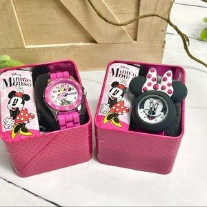 Disney Pink Minnie Mouse Watches (Bundle of 2)